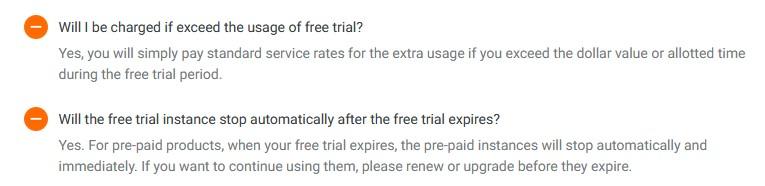 charge ketika free trial alibaba cloud habis