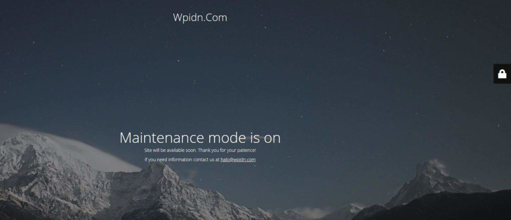 Contoh maintenance mode pada WordPress