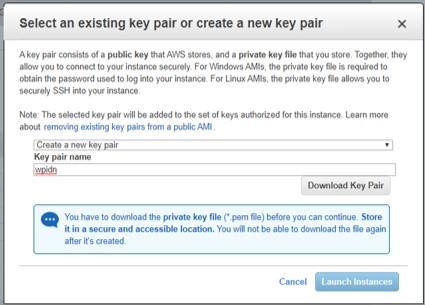 Membuat key pair untuk SSH
