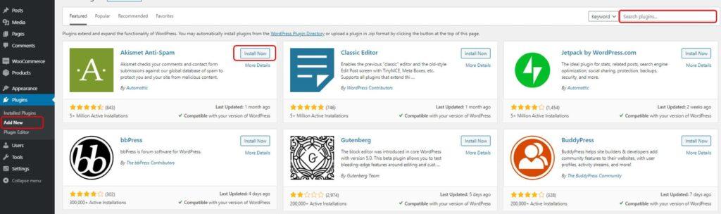 Menginstall plugin dari WordPress Repository