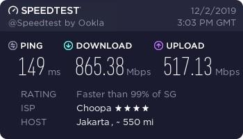 Vultr Compute 10 DL-UL Speed Jakarta
