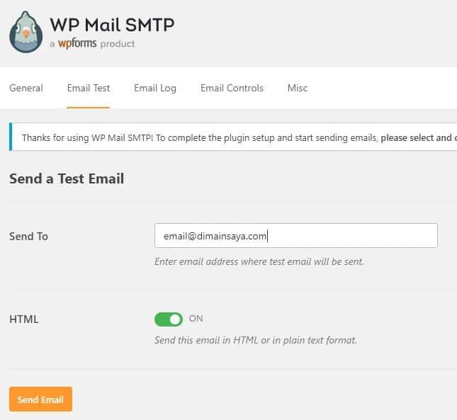 pengaturan dan test email wordpress dengan plugin