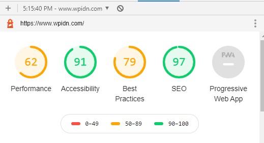 Performa website dengan audit Google Lighhouse