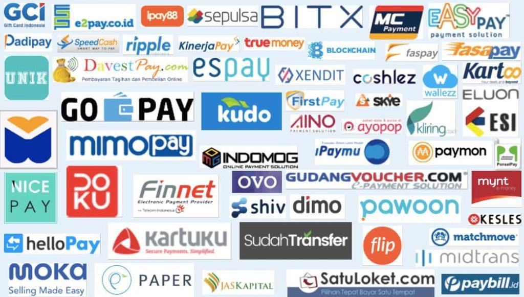 Daftar merchant dan payment gateway Indonesia