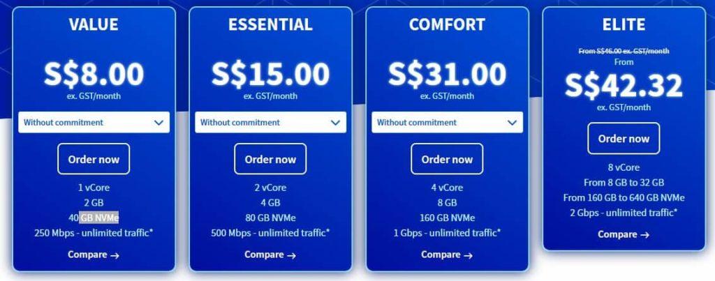 Harga VPS Singapura OVH yang murah