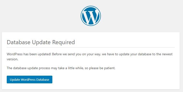 Update WordPress databse