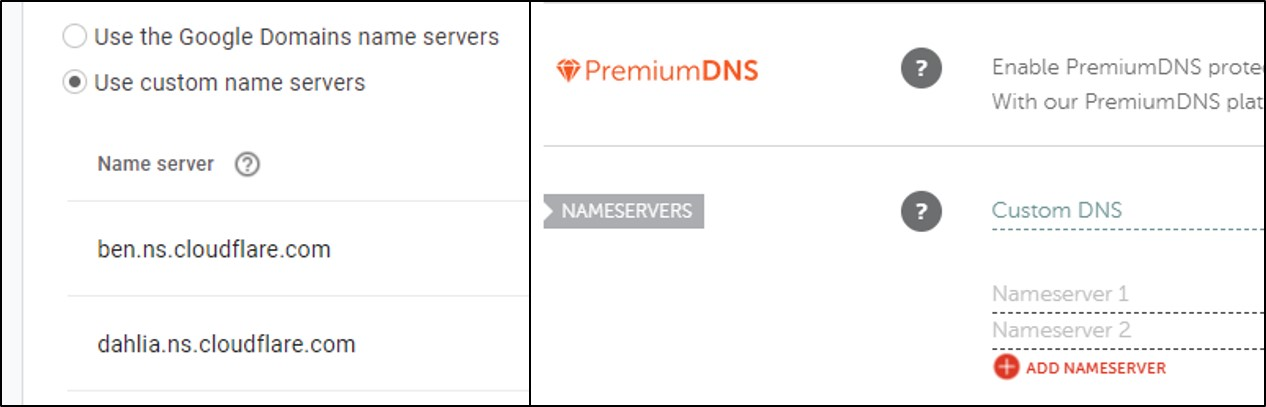 Arahkan name server dari panel domain hosting