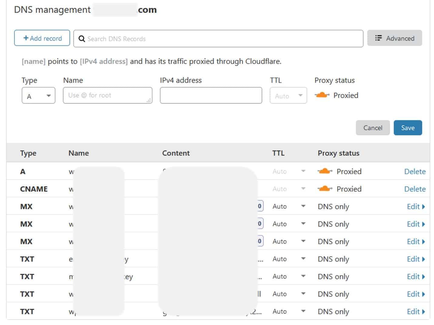 Cloudflare akan menarik semua DNS Record