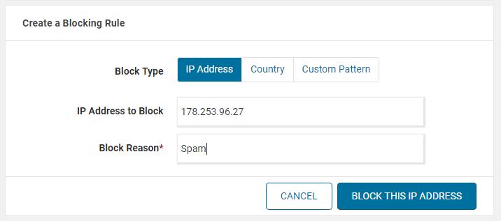 Blok IP address untuk mengurangi spam pada iklan