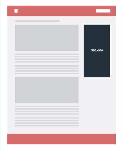 Iklan skyscraper 160x600 atau 300x600 untuk sidebar - widget