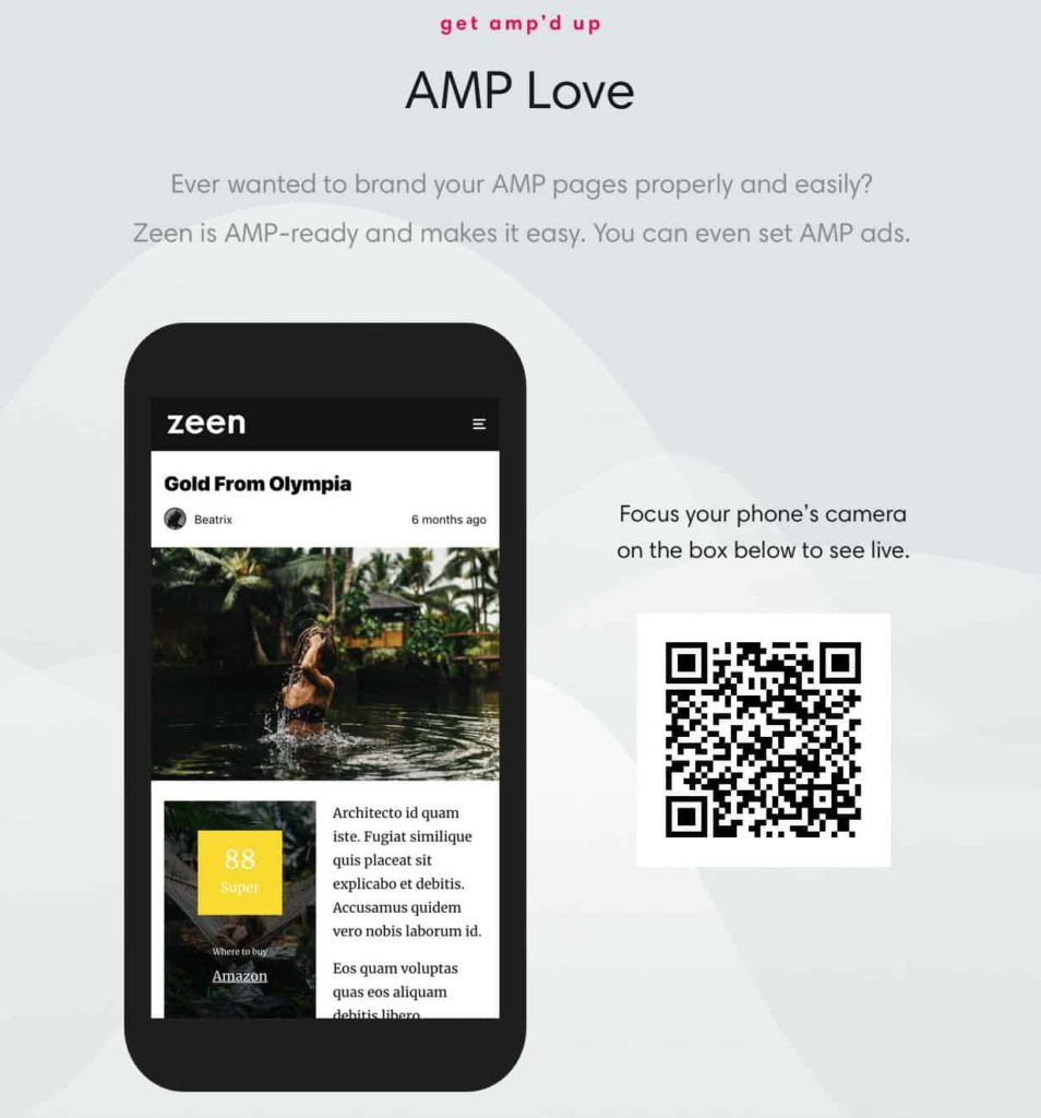 Integrasi AMP dengan theme Zeen