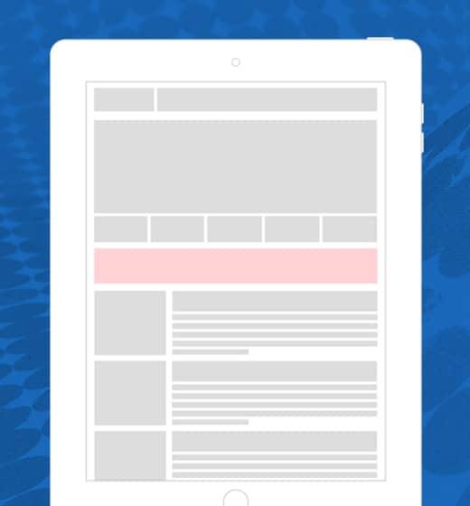 Posisi AdSense Leaderboard 728x90 untuk desktop