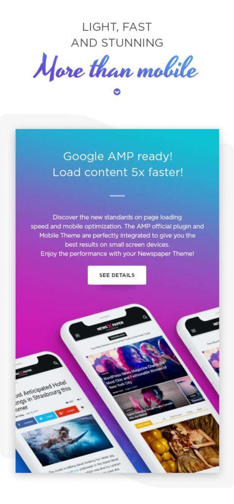 Theme Newspaper dengan theme AMP untuk performa yang lebih cepat